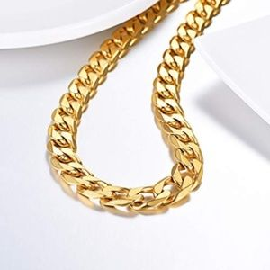 Other - Miami Cuban Gold Plated,Stainless Steel Necklace